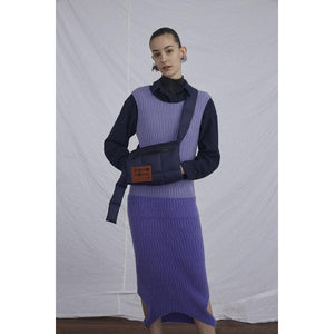 Duo-Tone Reversible Sweater Dress