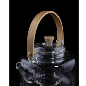 Bamboo Handle Glass Teapot-Teaware-CHOP SUEY CLUB-CHOP SUEY CLUB