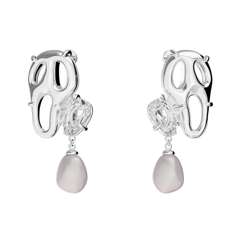 Pearl Friend Earrings - Platinum