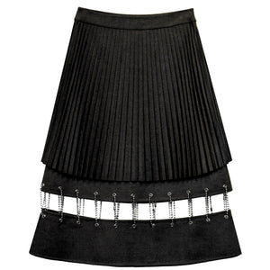Chained Cut-Out Midi Skirt