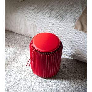 Accordion Paper Stool Chop Suey Club in Red