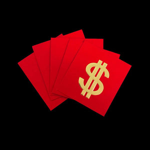 Money Envelope Pack-Money Envelopes-CHOP SUEY CLUB-Dollar-Red-CHOP SUEY CLUB