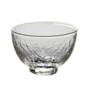 Short Dotted Texture Glass Cup