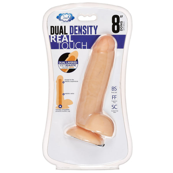 Cloud 9 Dual Density Dildo Touch Thick W- Realistic Painted Veins & Balls 8 In W-