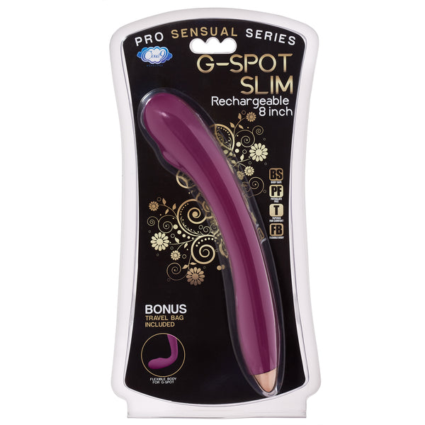 Pro Sensual G-Spot Slim 8 inches Rechargeable Dual Motors Vibrator