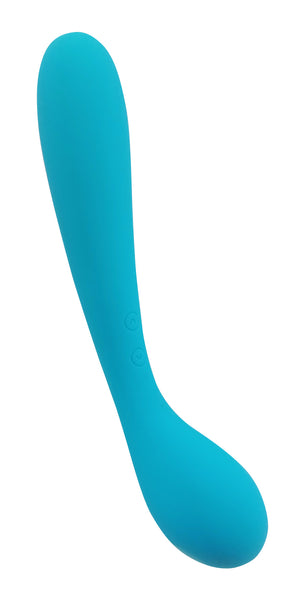 Cloud 9 Novelties Health & Wellness  G-Spot Slim Rechargeable 7 Inches Vibrator Dual Motor - Aqua Blue.