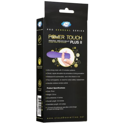 Cloud 9 Pro Sensual Series Power Touch PLUS II  (plum color)