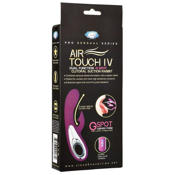 Pro Sensual Air Touch IV G-Spot Dual Function Clitoral Suction G Spot Rabbit, Plum