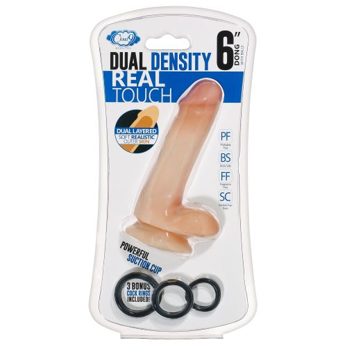 Cloud 9 Dual Density Dildo Touch W/ Balls 7 Inch