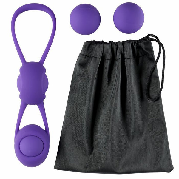 Kegel Training W/4 Weighted Balls & Pouch Premium Silicone