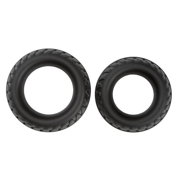 PRO RINGS LIQUID SILICONE TIRES 2-PACK (BLACK)