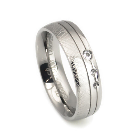 Titanium Rings, hand crafted design Wedding Bands for women