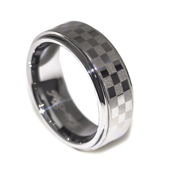 cool sport chequered men's ring view