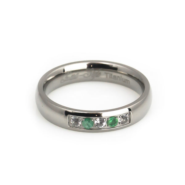 Emerald wedding ring for women