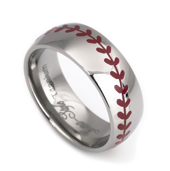 Baseball titanium rings