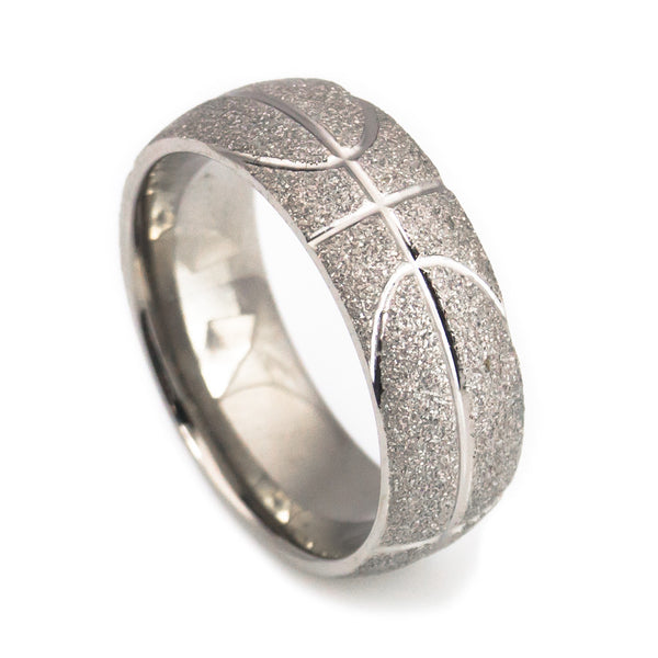 Basketball craft titanium wedding band