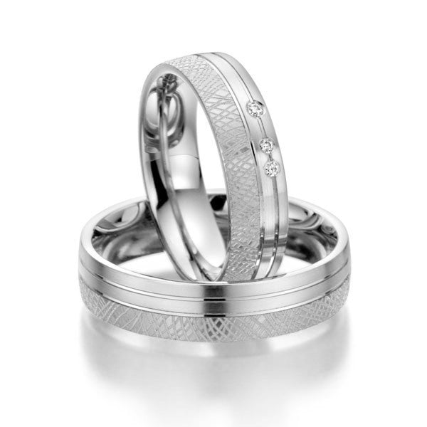 Hand Craft titanium wedding Band set