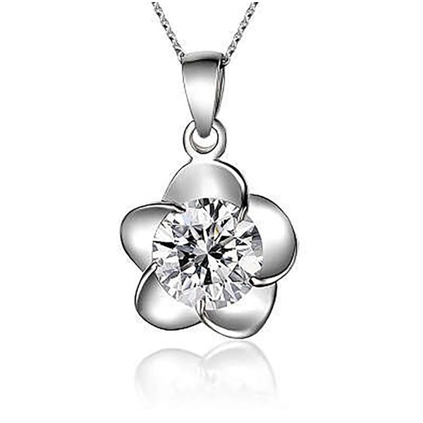 Clover Leaf Necklaces in Sterling Silver top view