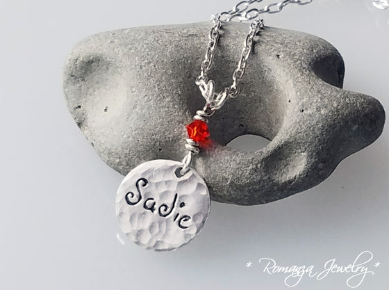 Charm Tag Personalized Necklace with Name of Your Choice