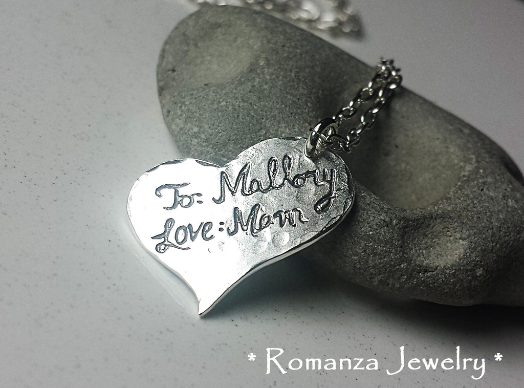 Always in my Heart Pet Paw Silver Heart Necklace