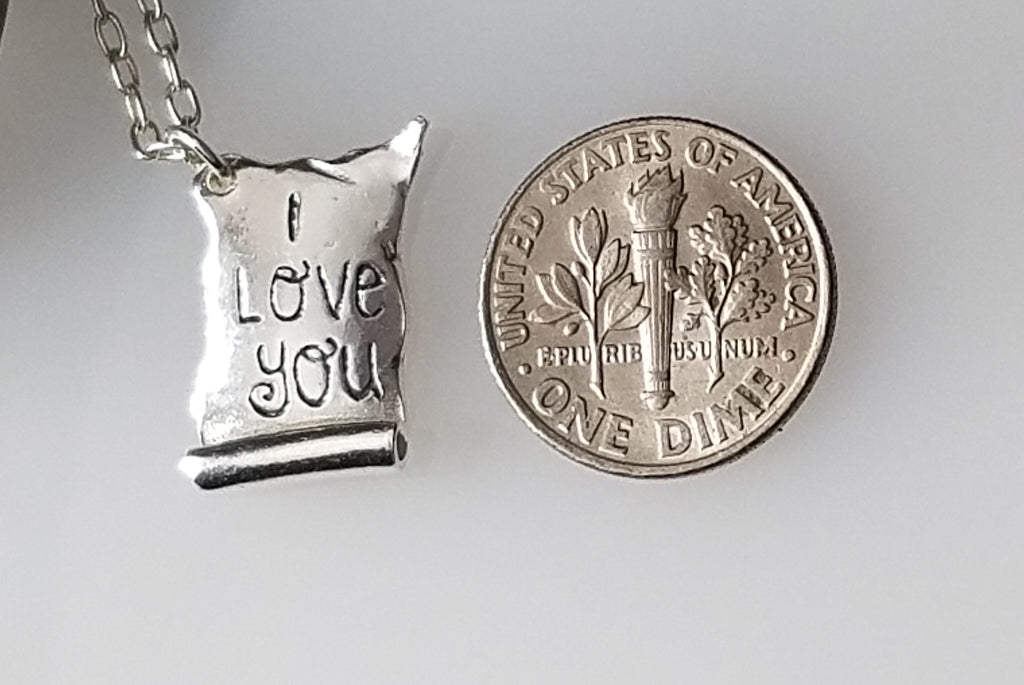 Silver Love Letter personalize it with your words