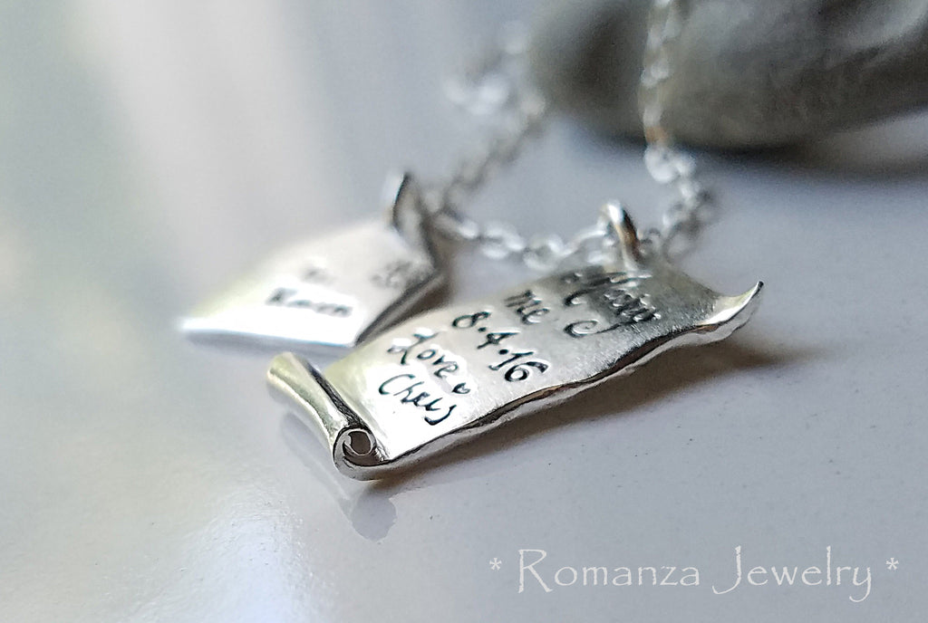 Marry Me Proposal Engagement Love Letter and Envelope Necklace