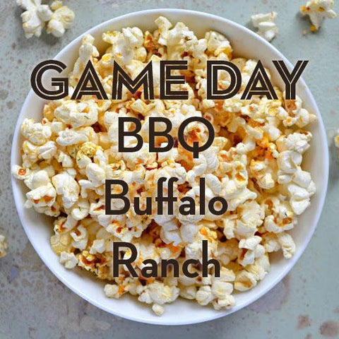SALE | GAME DAY | 3-Pack Popcorn Seasoning | Buffalo, BBQ + Ranch (20% Off)