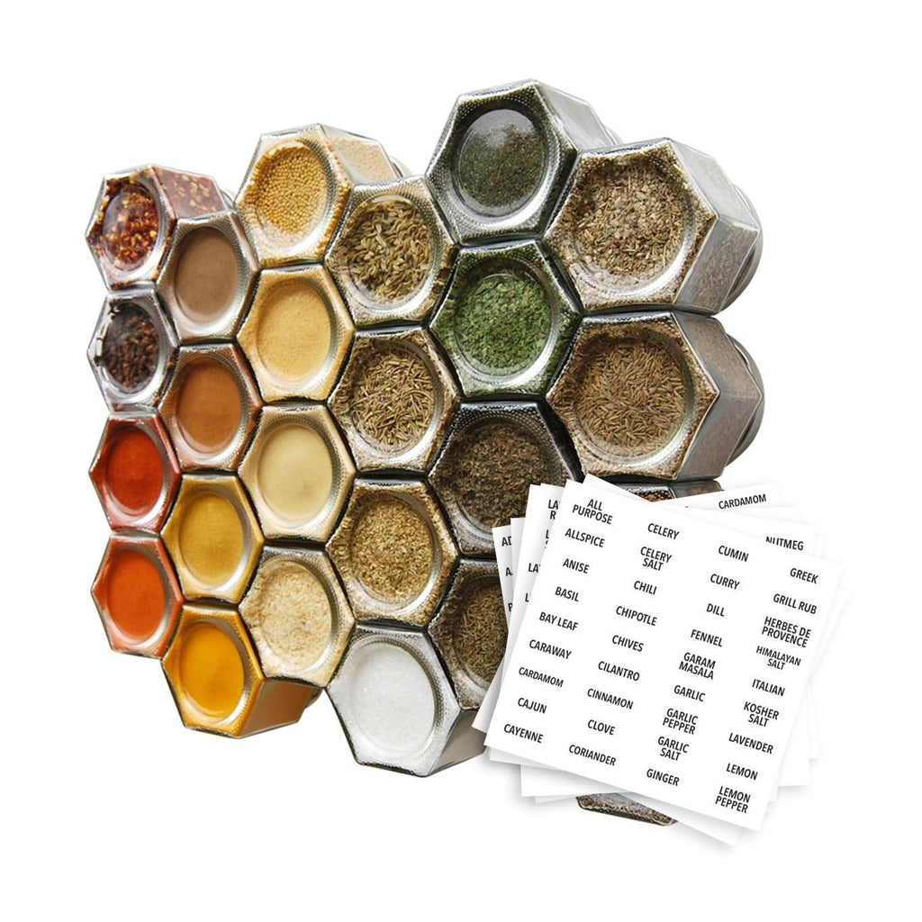 PANTRY KIT | 24 Large Magnetic Jars Filled with Organic Spices - Gneiss Spice