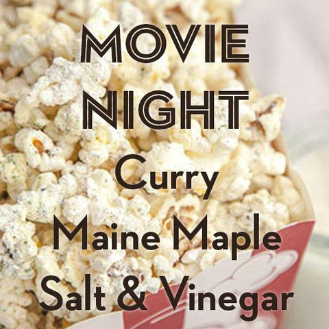 MOVIE NIGHT | 3-Pack Popcorn Seasoning | Curry, Maple, Salt-n-Vinegar - Gneiss Spice
