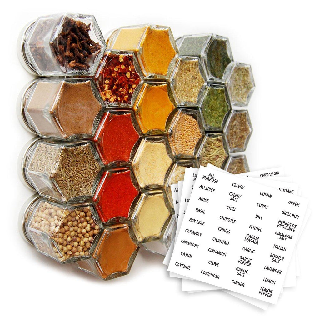 SALE!!! Organic Spices — 24 Small Magnetic Jars (15% Off) - Gneiss Spice