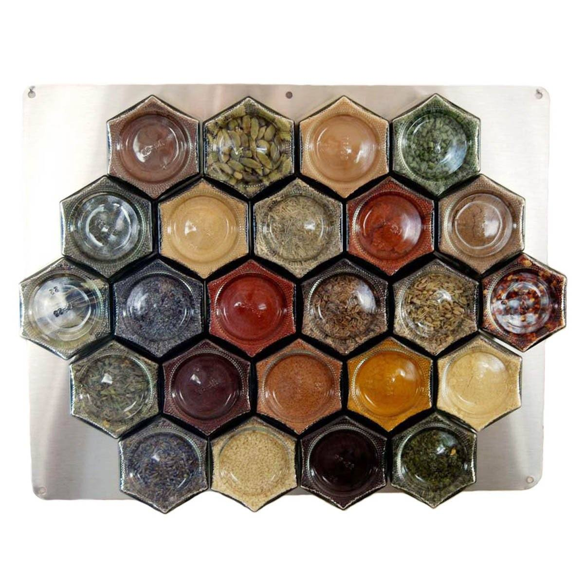 Diy magnetic spice rack for wall 24 large empty jars gneiss spice