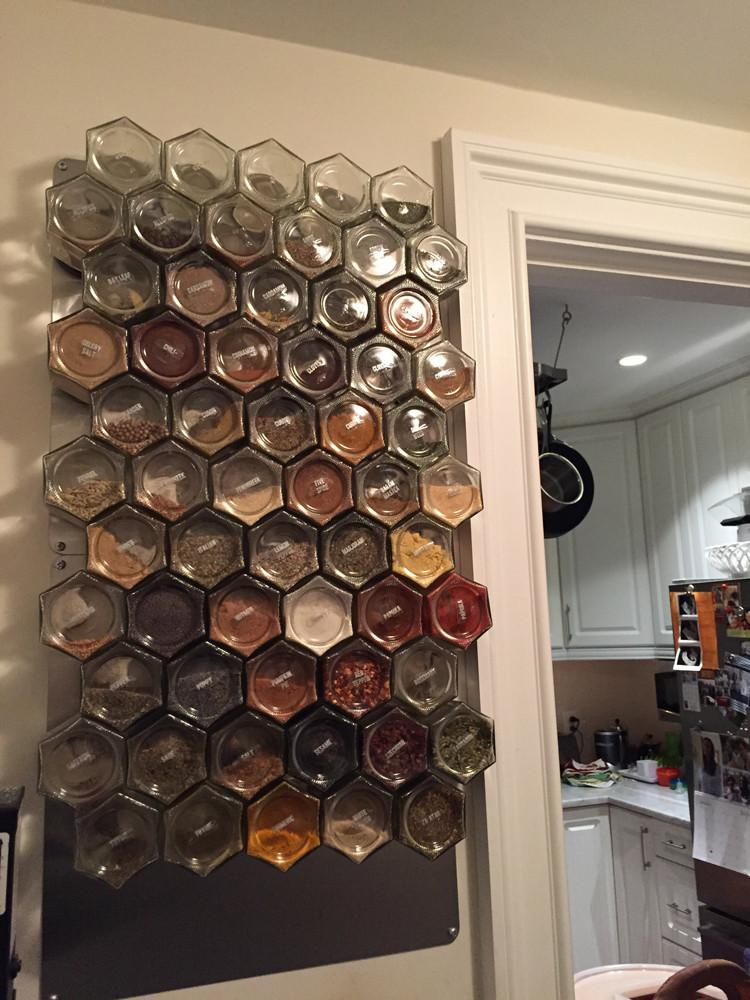 Diy Magnetic Spice Rack For Wall 24 Large Empty Jars