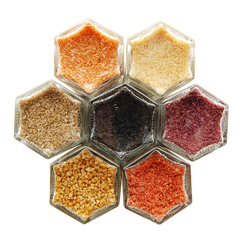 Magnetic spice rack with fusion salts