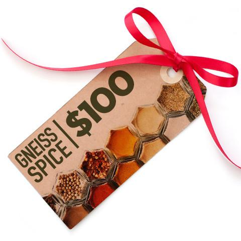 $100 Gift Card | Digital Delivery | Gneiss Spice Bucks - Gneiss Spice