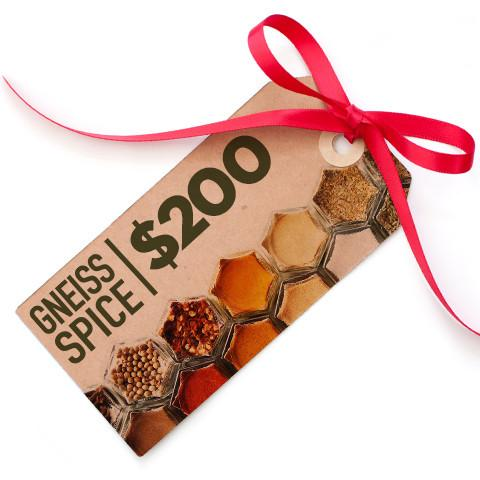 $200 Gift Card | Digital Delivery | Gneiss Spice Bucks - Gneiss Spice