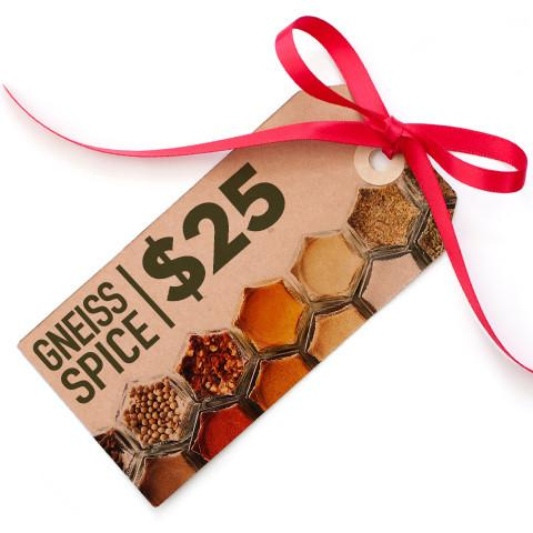 $25 Gift Card | Digital Delivery | Gneiss Spice Bucks - Gneiss Spice