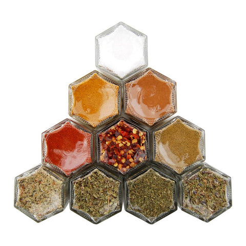 SALE | HOUSEWARMING | 10 Small Magnetic Jars Filled with Organic Spices (15% Off) - Gneiss Spice