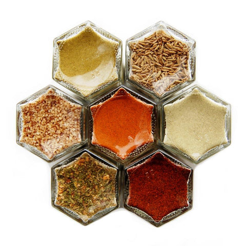 MEXICAN SPICES | 7 Organic Seasonings | Serrano Infused Gourmet Salt - Gneiss Spice