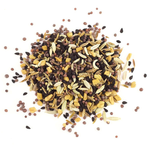 Panch Phoraon or Bengali Five Spice, a blend of nigella, black mustard, fenugreek, fennel, cumin.