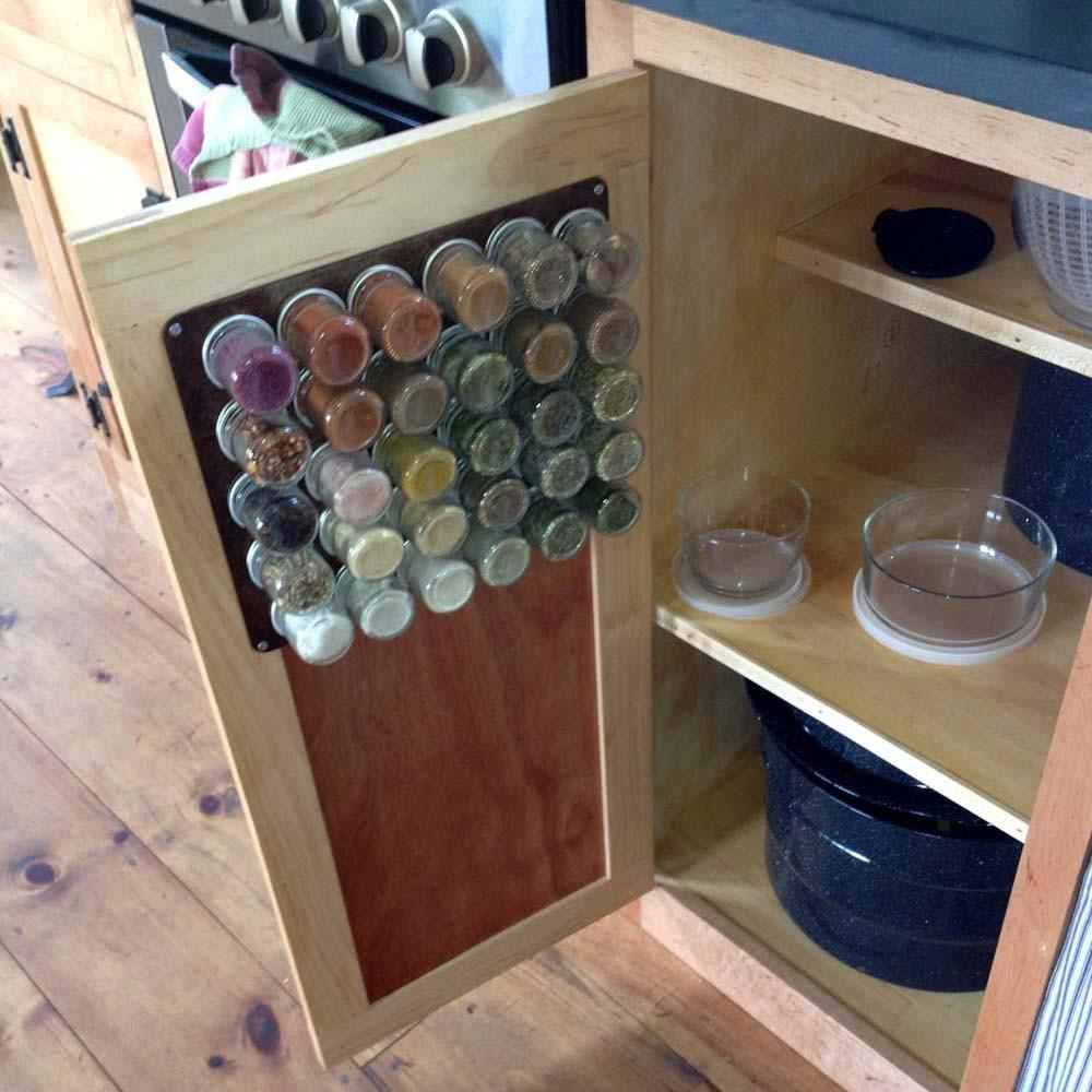 Rustic Diy Magnetic Spice Rack For Wall 24 Small Empty Jars