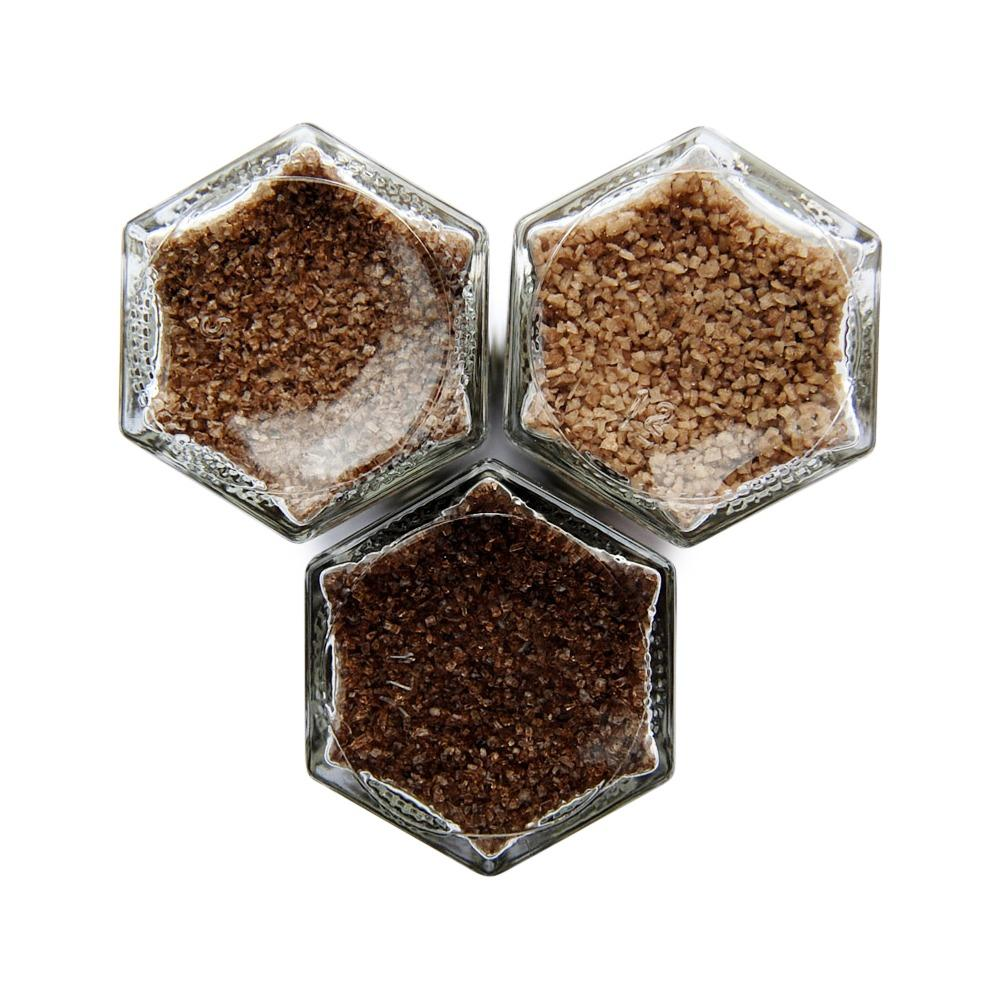 Smoky Mini Kit | Mesquite, Applewood & Chardonnay Oak Smoked Salts - Gneiss Spice