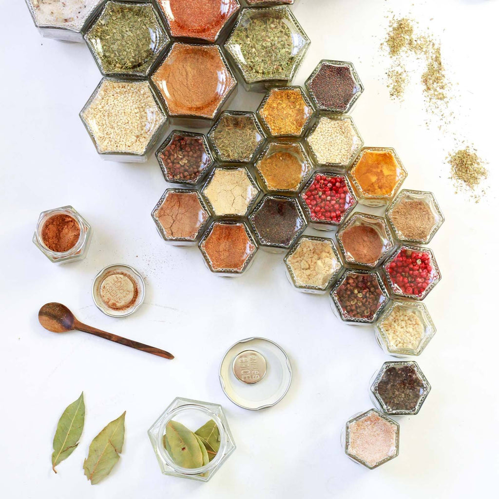 Diy magnetic spice jars 10 small empty jars gneiss spice