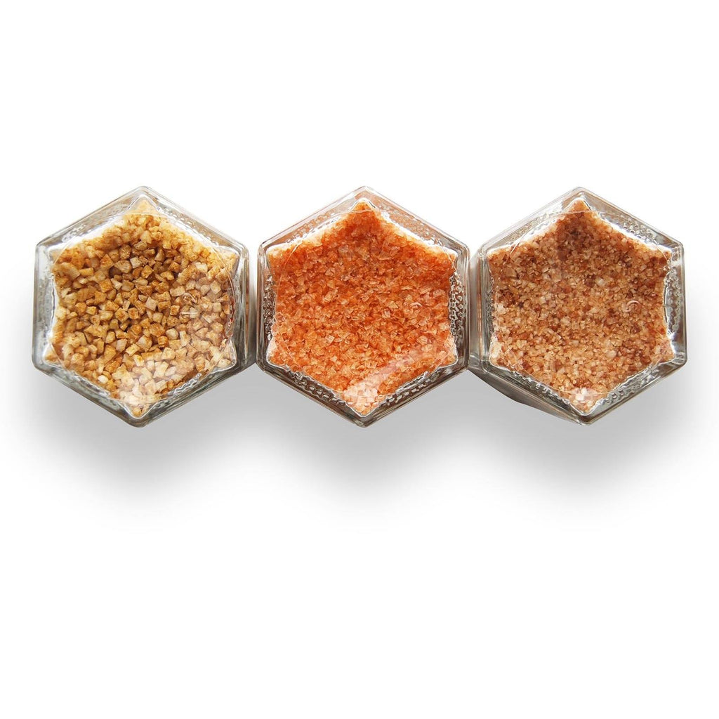 Spicy Mini Kit | Curry, Habanero & Sriracha Infused Salts - Gneiss Spice