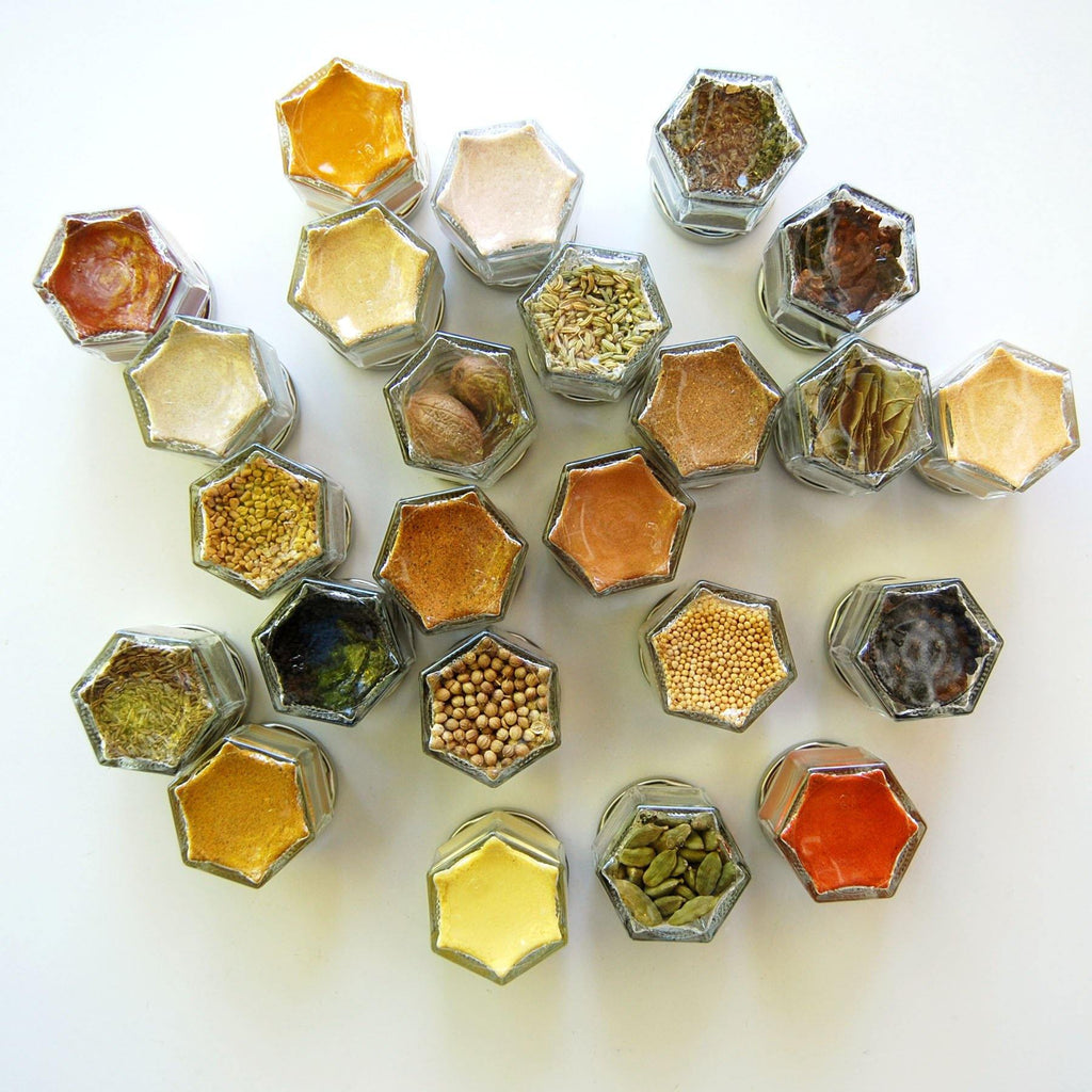 Your Choice of Organic Spices — 10 Small Magnetic Jars