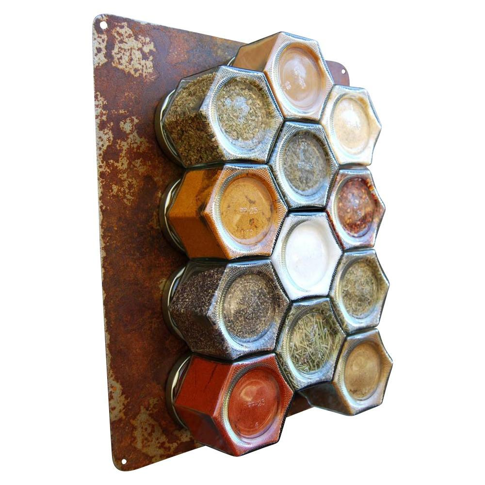 Your Choice of Organic Spices — 24 Large Magnetic Jars + Rustic Wall Plate - Gneiss Spice