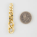 Chain a fool statement earrings