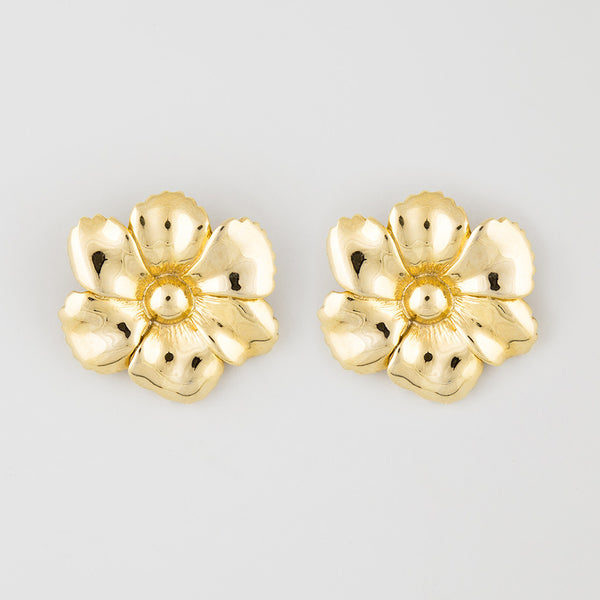 2 floral statement earrings