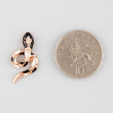Delicate snakes statement earrings