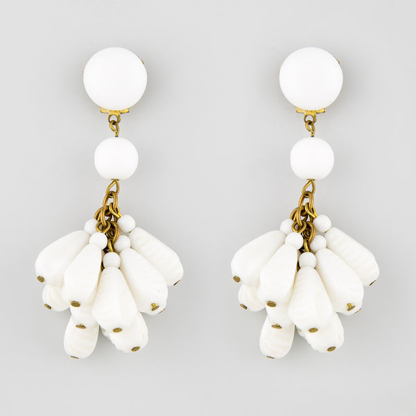 About time statement earrings