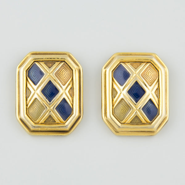 Geometric appeal statement earrings